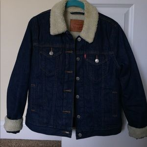 Fur denim Levi's jacket